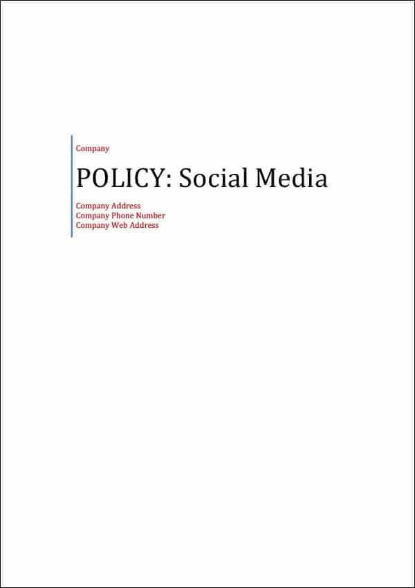 Policy Social Media Cover Page