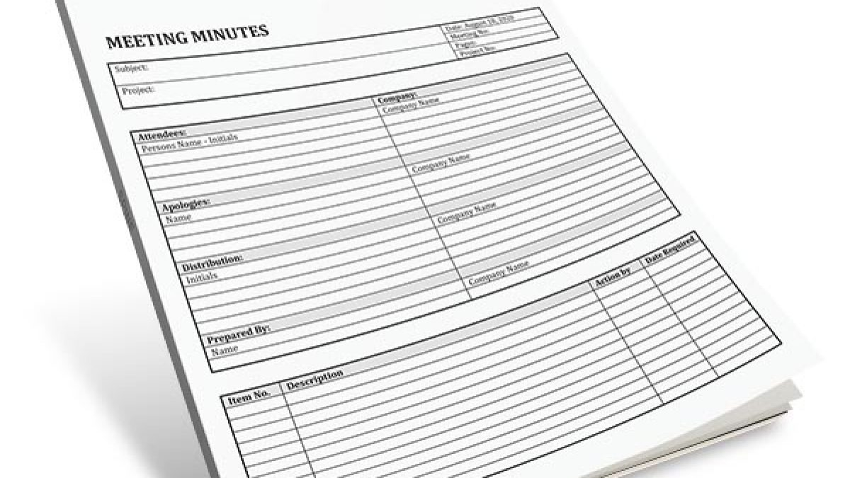 Track Your Meetings With This Free Template Digital Documents Direct Templates