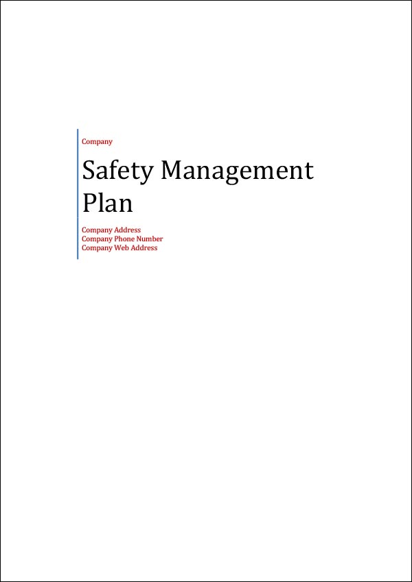 Safety Management Plan Template Are You Prepared Download Now